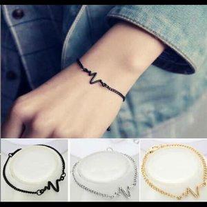 Jewelry - Silver echocardiogram bracelet.